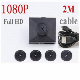 Wholesale Camcorder Video Cable - 2M USB Cable Full HD 1080P Button camera Audio Video PC Cam Hidden camera video Voice Recorder DVR mini Camcorders