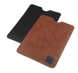 Wholesale Leather Casing For Tablet - Android Robot Leather Case bag Sleeve For 7 8 9 9.7 iPad 10 inch Samsung Ainol Sanei Ampe Cube Tablet PC