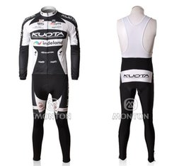 Wholesale Kuota Cycle Jersey - Kuota cycling Jerseys Sets Cycling Jersey Sets Long Sleeve 3D Padded Pants Cycling Clothing Set Autumn Cycling Jerseys High Quality