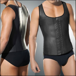 Wholesale Steel Boned Corset Under - Faja Hombre Latex Waist Trainer For Men 4xl 5xl Plus Size Body Girdles Men Steel Boned Mens Waist Shaper Corset Under Wear Vest
