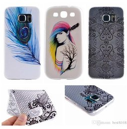 Wholesale S3 Case Clear - Henna Mandala Paisley Flower Floral Soft TPU Case For Iphone 5 5S 6 6S Galaxy S6 Edge Plus Note4 S3 S5 Huawei G7,P8,Lite Dreamcatcher Cover