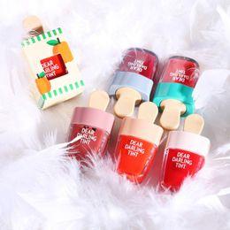 Wholesale wholesale korean ice cream - Korean ETUDE HOUSE Tint Lipgloss Ice Cream Makeup Liquid Matte Lipstick Lasting Moisturizing Waterproof Lip Gloss 6 Color Choose