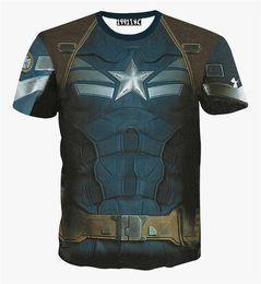 FG1509 Harajuku мода Marvel Мститель 2 мужской печати 3d футболка для запуска Спорт капитан Америка charater рубашки для женщин/мужчин supplier running t shirt printing от Поставщики бегущая майка