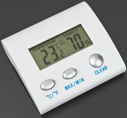 Wholesale Best Thermometer Hygrometer - Wholesale-Free Shipping Best Quality Digital LCD Temperature Humidity Hygrometer Thermometer TL8025 Thermo Hygrometer Worldwide