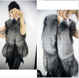 Wholesale Faux Fur Vests For Women - Girls Women Warm Faux Fur Vest Outerwear Coat Jacket waistcoat Tops S-3XL For WOMAN Free Shipping