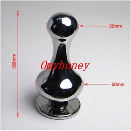 Wholesale Chastity Device Ass Plug - 2015 new luxury heavy stainless steel anal toys, ass butt plug anal sex toys, sm products, chastity device belt, M014