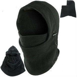 cappuccio Sconti Hot Winter Outdoor Thermal Warm 6 in 1 Cappuccio Balaclava Police Swat Sci Cappellino Fleece Ski Bike Sciarpa Wind Stopper Ski Mask Cappelli