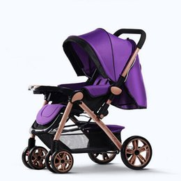 Wholesale Baby Pram System - Baby Stroller Fashion Pushchair Lightweight Portable Pram for Infants 3 In 1 Folding Umbrella Travel System Carriage Strollers