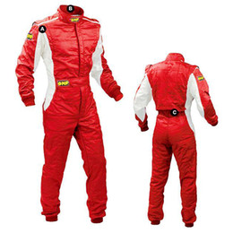 Wholesale 2016 omp motorcycle car racing suit jacked pants coverall sets polyester windproof not fireproof female male wear color size XS XL