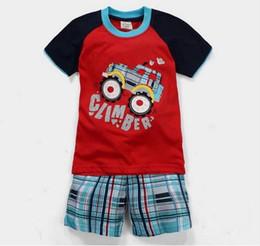 Wholesale Kid Underwear Cartoon Characters - 2017 New Boys Pijamas Kids Set Children's Pyjamas Clothing Sets Kid Pajamas Baby 2-7Y Short Sleeve Shorts Cartoon underwear Sleepwea