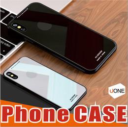 Note cas de charge en Ligne-Doux TPU Bord Anti-force Verre Trempé Panneau Retour Soutien Sans Fil De Charge De Protection Dur Cas de Couverture pour iPhone X / 8/7/6 Note 8 cas