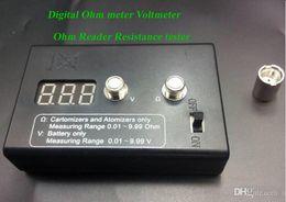 Wholesale Ego Digital - new Digital Ohm meter Voltmeter Ohm Reader Resistance tester for 510 RBA RDA ego e cig battery atomizer 20w kit mod