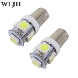 Wholesale Led Ba9s - WLJH White BA9S Led 5050 5SMD Car led Light Bulb 64111 H6W T4W Indicator Dome Map License Plate Side Light Car Styling Lamp