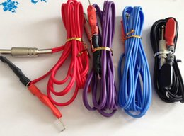 Wholesale Silicon Clip Cords - 10Pcs Wholesale Tattoo Clip Cords Mixed Color Silicon Gel Tattoo Clip Cord For Tattoo Machine Guns Power Supply