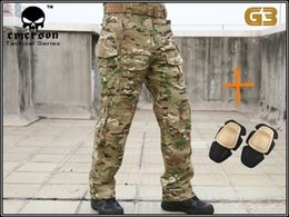Wholesale Hunting Gears - Wholesale-Men Military Army Tactical Gear Airsoft Paintball Outdoor Hunting Clothes Combat BDU Gen3 Pants with Knee Pads Multicam MC