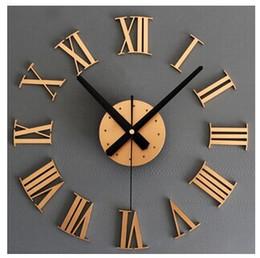 2020 relógios de parede números romanos Um metálico 3 d diy roman numerais relógio de parede criativo relógio de parede diy relógio de ouro e prata relógios de parede números romanos barato