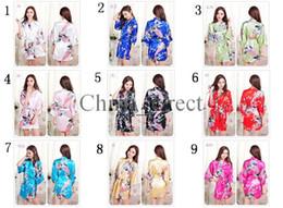 Wholesale White Bathrobes - 2017 summer Female Solid plain rayon silk short Robe Pajama Lingerie Nightdress Kimono Gown pjs Sexy Women Dress bathrobe 13 colors #3795