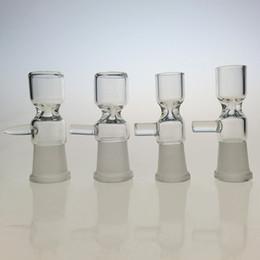 recipiente de tamaño de junta de 14.5mm Rebajas 5 UNIDS / LOTE Tazón Hembra de Cristal 14.5mm Joint 18.8mm Tamaño de la Junta Uso Para Bong Bong Tabaco Envío Gratis