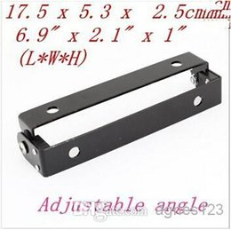 Wholesale Adjustable License Plate - Motorcycle Automobile Adjustable Angle Black Metal License Plate Holder Bracket hot sale free shipping