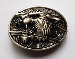 Wholesale Tiger Belt Buckles - Newest Antique Tiger Style with Knife Belt Buckle SW-B6010,brand new condition free shipping