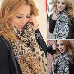 Wholesale Sexy Cozy - New 2014 Hot Fashion Trendy Cozy Women Ladies Noble Scarf Shawl Neckerchief Muffle Designs Sexy Leopard Scarves b7 SV007184