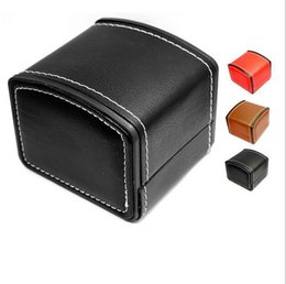 Wholesale Jewelry Boxes Wholesale Logo - Top Quality Leather Automatic Watch Boxes Cases Customized Logo ( Red, black, brown) 8000494