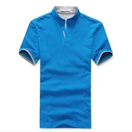 Wholesale Collar Shirts Cheap - Wholesale Cheap China Clothes Mens Polo Shirt Solid Custom Logo Uniforms Breathable Short Sleeve Men Polos Calcetines Hombre