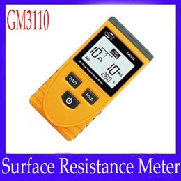 Wholesale Insulation Tester Meter - Digital Insulation Handheld Surface Resistance Meter Tester GM3110 2pcs lot free shipping