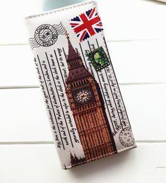 Wholesale Tower Cards Credit - Hot Sale 14 Colors Women Long Wallet PU leather Paris Flags Eiffel Tower Style Lady Coin Purses Clutch Wallets Money Bags TOP1167