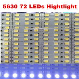 Wholesale Led Light Bar 1m - Hard LED Strip 5630 SMD 6mm 1M 12V Rigid Bar Light Strip 72leds + Aluminium Alloy LED White hightlights Free DHL