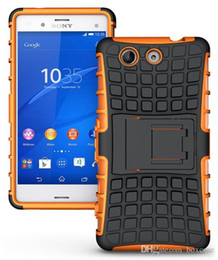 Wholesale Xperia Cell Phone Cases - Heavy Duty Rugged Defender Cell Phone Protection Hybrid Kickstand Case For Sony Xperia Z3 Z4 Z5 Mini Compact Cover Skin Shockproof