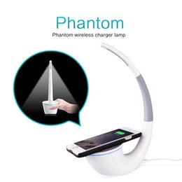 Wholesale Wireless Switch Off - Nillkin QI Wireless Charger Phantom Table Lamp Desk Top LED Light Charging for Iphone 8 8Plus Samsang S8 S8 Plus S7 Edge S6 Note 5