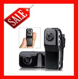 Wholesale Video Cam Webcam - Drop shipping Black Sports Video Spy Hidden Camera MD80 Webcam web Cam Hot Selling Mini DVR Camera & Mini DV