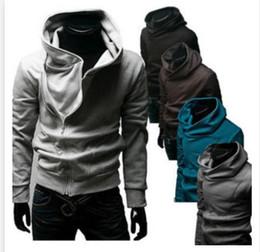 Wholesale Mens Oblique Hoodie - 2016 Hot Mens Collar Hoodies Slim Fit Oblique Zipper Casual Hoodies Sweatshirts
