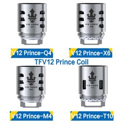 Wholesale X6 Atomizer Tank - Authentic TFV12 Cloud Beast Prince Coil Head Replacement Q4 X6 T10 M4 Massive Vapor Vape Coils TFV12 PRINCE atomizer tank 100% Original