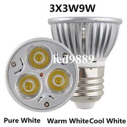 Canada CREE haute puissance GU10 (E27 / E14 / MR16 / GU5.3) LED 9Wlampe ampoule LED Downlight chaud / froid blanc Offre