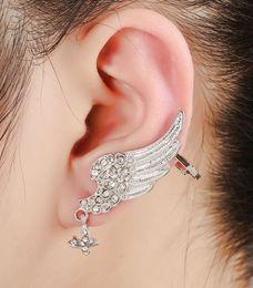 Wholesale Long Earrings Leave Cuff - free shipping 10pcs lot Popular long single left ear clip earring  Jhumka Earcuff suitable for left ear cuff .