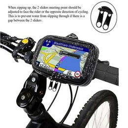 Wholesale Gps Case Bike - 360 Rotating Waterproof Bicycle Bike Mount Handle Bar Holder Case GPS Bike Holder for iphone 6S   6S Plus Mobile Phones