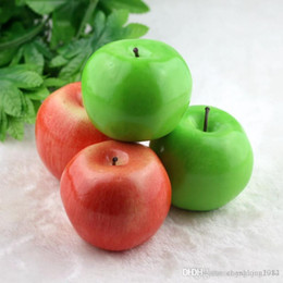 Wholesale Ornament House - Home decor Large size green apple artificial simulation apple fake Fruit Wedding Party House Decoration photography props home ornaments