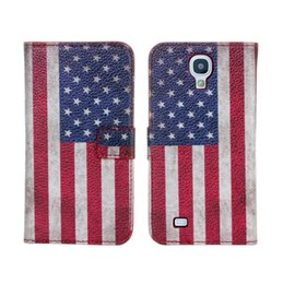 Wholesale Usa Flag Galaxy S4 - Factory Price USA UK Flag Pattern Leather Phone Protective Case For Samsung Galaxy S4 I9500