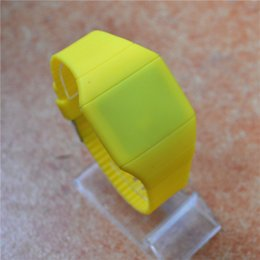 Wholesale Cheap Wholesale Fashion Watches - Cheap Colorful LED Touch-screen Watch Jelly Candy Extra-thin Silicone Waist Watches DHL FedEx Free Shipping 100pcs