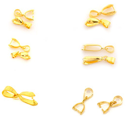 Wholesale Gold Plated Pinch Clip Bail - Wholesale DIY Jewelry Findings Pinch Bail Clip Gold Plated 1PC (Over $120 Free Express)