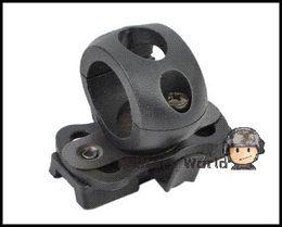 Wholesale Tactical Helmet Tan - Airsoft Tactical 21MM Helmet Clamp Adaptor For Helmet Army Military Wargame Outdoor Mini Flashlight Mount Holder Black Tan FG