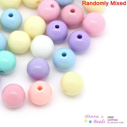 Wholesale 6mm Round Acrylic Beads - Acrylic Spacer Beads Round Mixed 6mm Dia,Hole:Approx 1.5mm,500PCs (B28558)