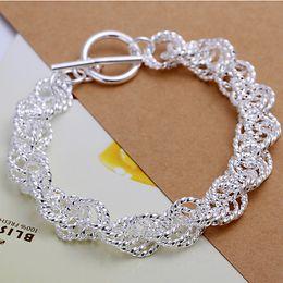 Wholesale Flashing Links - Hot sale gift 925 silver Flash Twist Rough circle bracelet DFMCH240, Brand new fashion 925 sterling silver Chain link bracelets high grade