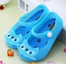 Wholesale strap water proof - Baby Girls Sandals Kids Flat Jelly Water Proof Cats Prewalker Sandal Shoes New Fashion Princess Girl Peep-toe Shoe 24-29 Yard K4581