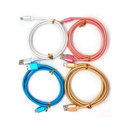 cabo iphone carregador cabos Desconto 1 M 2 M 3 M 3FT 6FT 10FT V8 Tipo C Reforçando Nylon Braid USB Cabos de Carregamento de Dados Micro Cabos USB Cabo de Dados de Carregamento de Sincronização