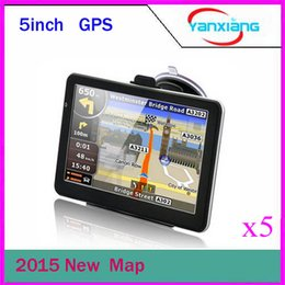 Wholesale Maps Memory - DHL 5pcs NEW matte style worldwide free maps 5 inch GPS with 4GB memory and map car gps navigator ZY-DH-02