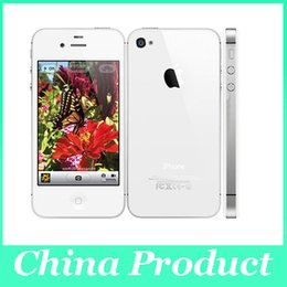 Wholesale Dual Iphone 4s - Original Apple iPhone 4S smartphone 512M 16G 32G 64GB iOS 8 dual core 3G wifi GPS 3.5 inches 8MP Camera 002834 Refurbished Phone