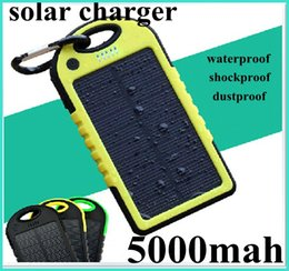 Wholesale Waterproof Dustproof Shockproof Smart Phone - Universal Dual USB Shockproof Waterproof Dustproof 5000mAh Solar Charger and Battery Solar Power bank for smart phone Laptop Camera